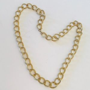 Sarah Coventry Chain Link Necklace Gold Tone Vtg